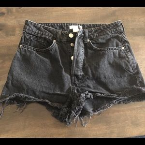 2 for $20!! H&M black denim high waisted shorts